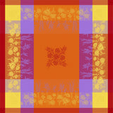 Coquelicot Orange Jacquard Tablecloth - choose your size