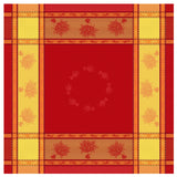 "Nice Red Jacquard Tablecloth (63""x63"" only)"