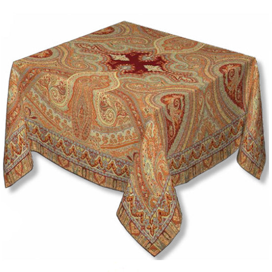 Paisley Bordeaux Jacquard Tablecloth - choose your size