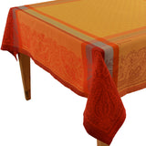 Kashmir Yellow Jacquard Tablecloth - choose your size