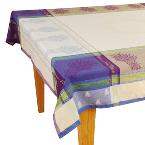 Lavandine Purple Jacquard Tablecloth - choose your size