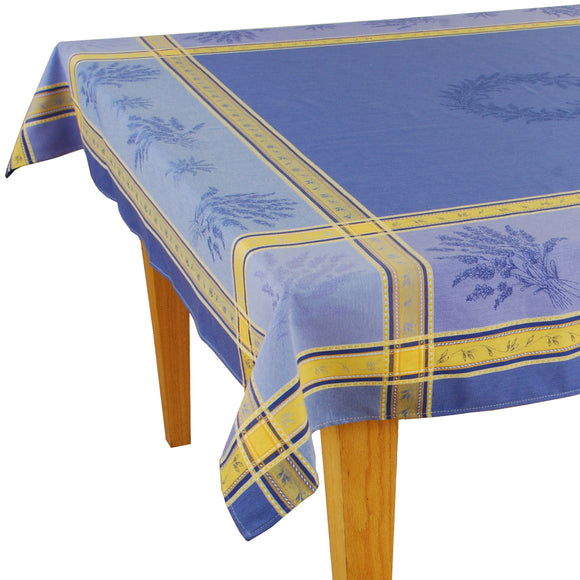 Senanque Blue Jacquard Tablecloth (63