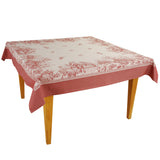 Versailles Red Jacquard Tablecloth - choose your size