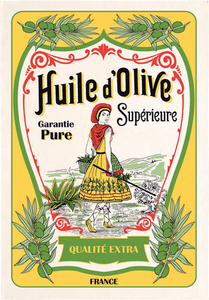 "Huile d'Olive Superieure 19""x28"" Cotton French Image Dishtowel"