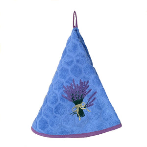 "Lavender Blue 28"" Round Terry Dishtowel"