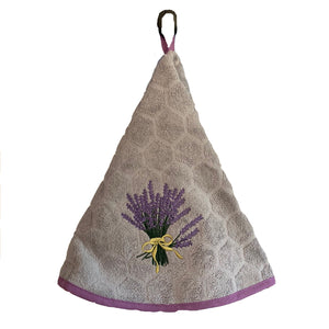 "Lavender Grey 28"" Round Terry Dishtowel"