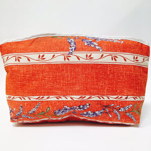 "Valensole Red Cotton Makeup Bags 10""x7"""