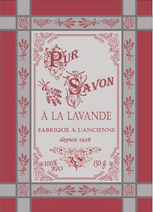 "Lavandiere Red 20""x28"" Jacquard Dishtowel"