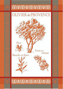 "Oliver de Provence Orange 20""x28"" Jacquard Dishtowel"