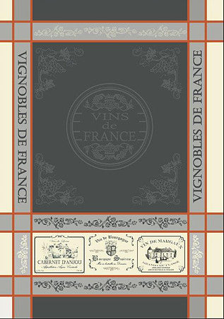 Vignobles de France Grey Orange 20