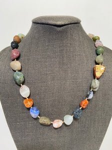 French Choker with Multi Color Agates by Bijo