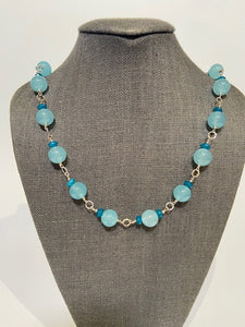 French Choker with Blue Quartz by Bijo