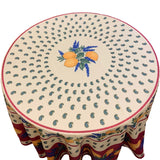 "Lemons Red 70"" Round Polyester Tablecloth"