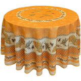 "Sunflower Yellow 70"" Round Polyester Tablecloth"