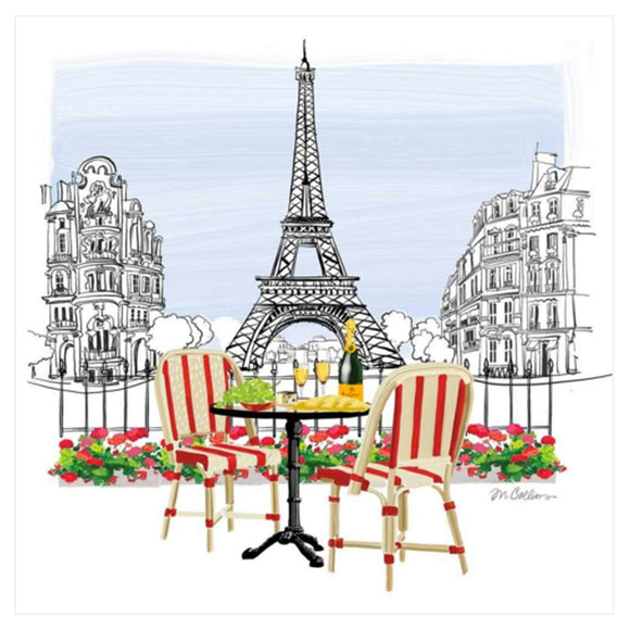 Bistro de Paris Paper Dinner Napkin