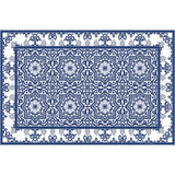 "Blue Armenian Vinyl 13""x20"" Placemat - sold in sets of 4, 6, 8 or 12"