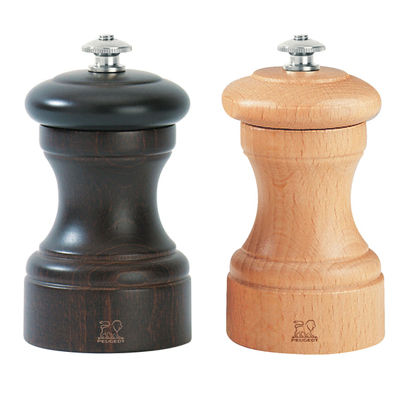 Bistro Chocolate/Nautral Salt & Pepper Mills Set by Peugeot