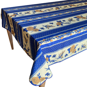 "Sunflower Blue Rectangular Polyester Tablecloth (60""x118"" only)"