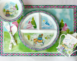 Llama Melamine Set for Baby (Plate, Cup, Bowl, Utensils & Placemat)