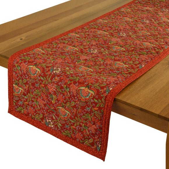 Columbe Red Quilted Table Runner 17