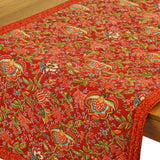 "Columbe Red Quilted Table Runner 17""x58"""