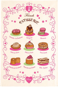 "French Patisserie 19""x28"" Cotton French Image Dishtowel"