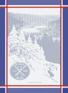 "French Ski Club 22""x30"" Garnier-Thiebaut Jacquard Dishtowel"