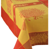Valayans Yellow Jacquard Tablecloth - choose your size