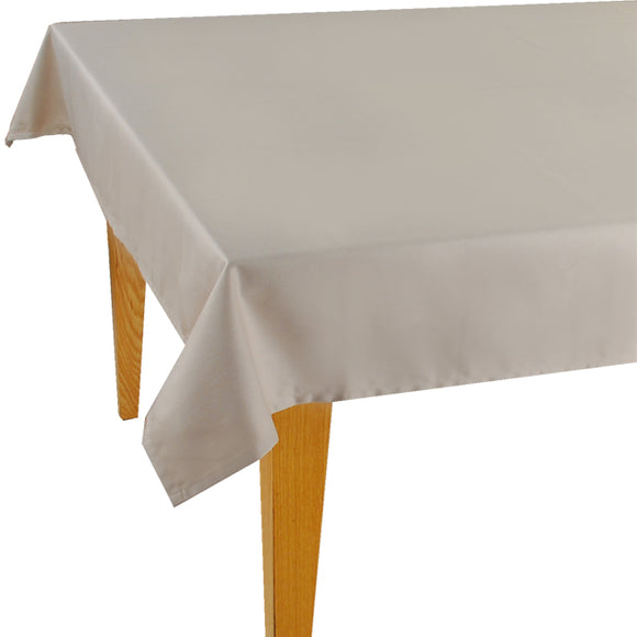 Beige Solid Jacquard Tablecloth - choose your size