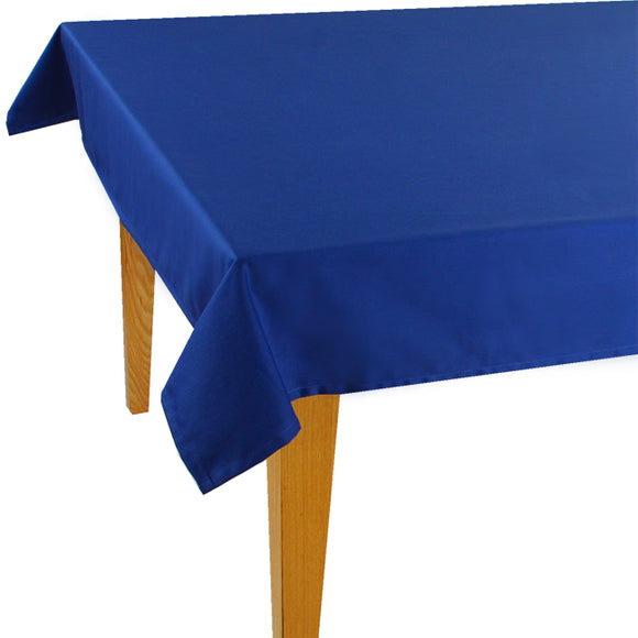 Dark Blue Solid Jacquard Tablecloth - choose your size