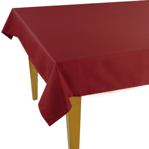 Bordeaux Solid Jacquard Tablecloth (63
