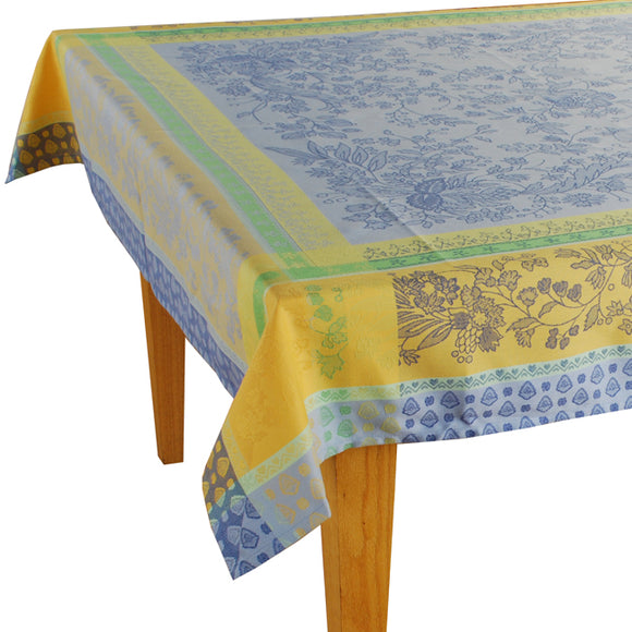 Cotignac Blue Jacquard Tablecloth - (63