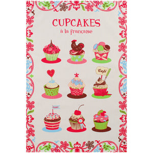 "Cupcakes 19""x28"" Cotton French Image Dishtowel"