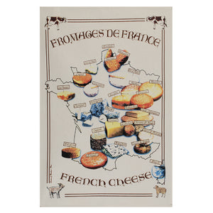 "Fromage de France 19""x28"" Cotton French Image Dishtowel"