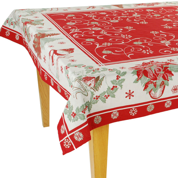 Etoile de Neige Jacquard Tablecloth - choose your size