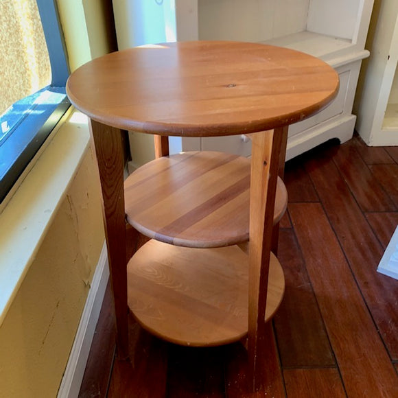 Wooden 3-Tier Round Table