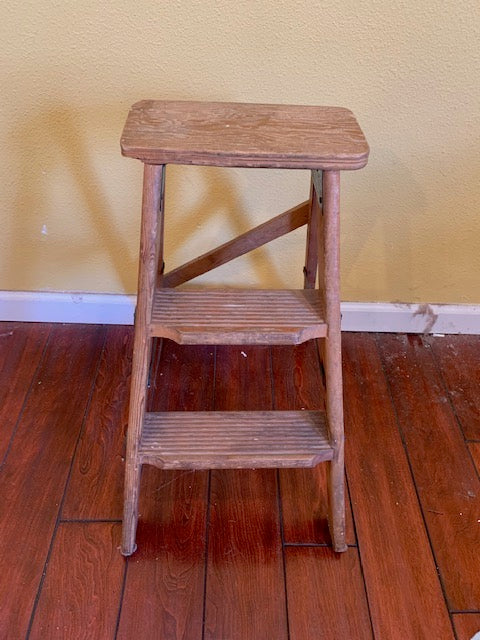 Antique Wooden Small Ladder