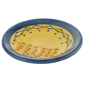 Frise Yellow/Blue Ceramic Garlic Grater