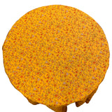 "Gentiane Yellow 70"" Round Cotton Tablecloth"