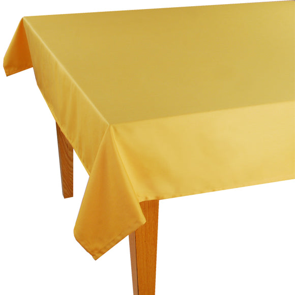Yellow Solid Jacquard Tablecloth - choose your size