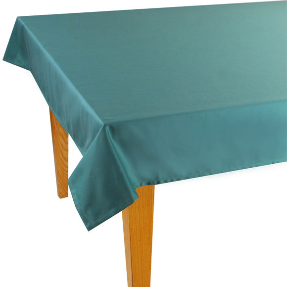 Green Solid Jacquard Tablecloth - choose your size