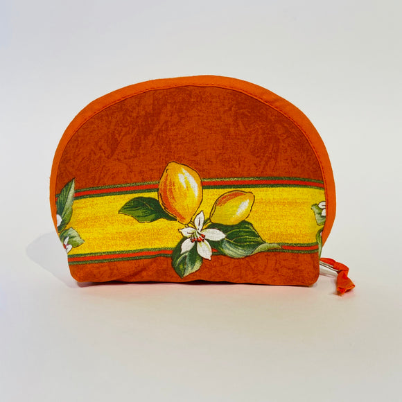 "Lemon Orange Cotton Makeup Bags 6""x5"""