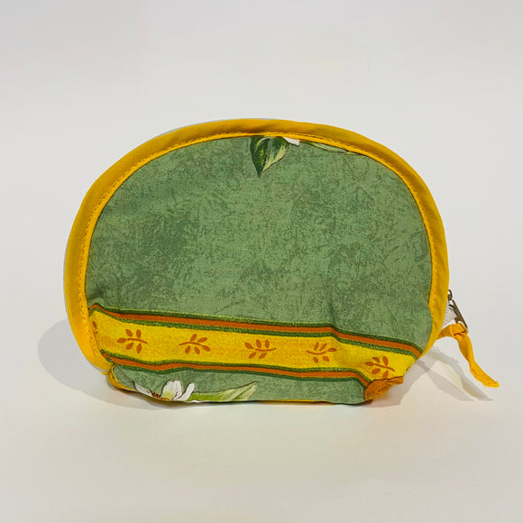 "Lemon Green Cotton Makeup Bags 6""x5"""