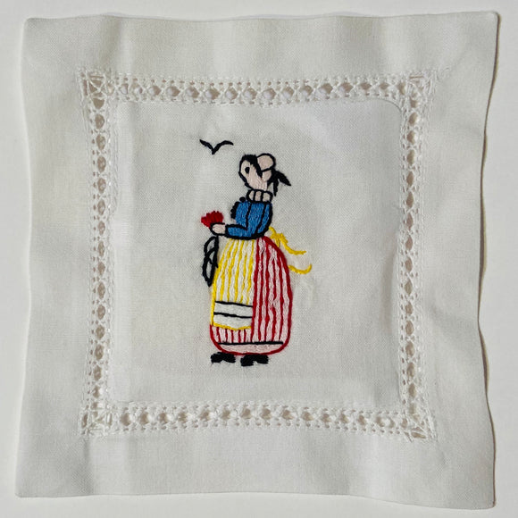 Provence Lady Hand Embroidered Lavender Sachet