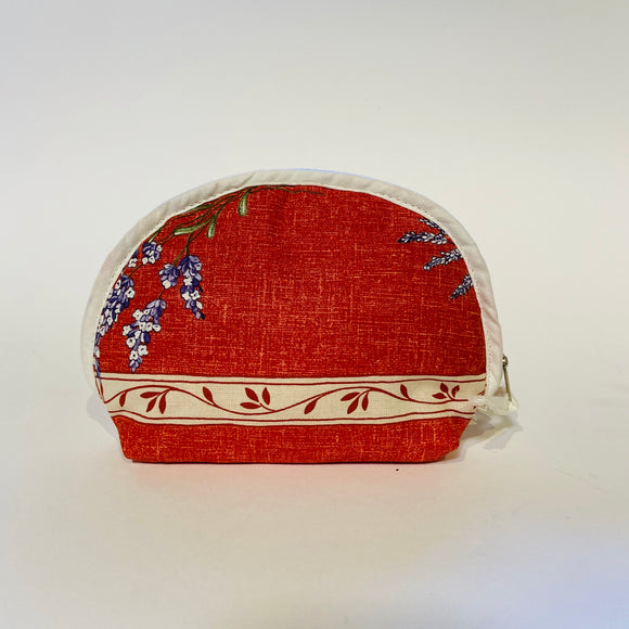 "Valensole Red Cotton Makeup Bags 6""x5"""