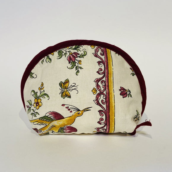 "Moustier Red Cotton Makeup Bags 6""x5"""