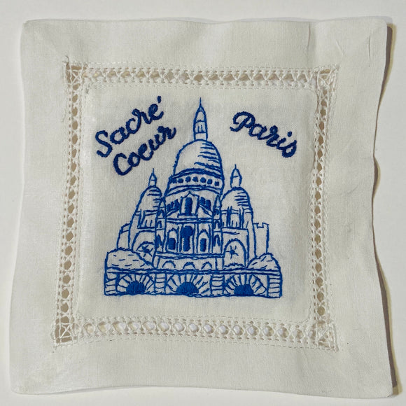 Sacre Coeur Hand Embroidered Lavender Sachet