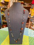 Carnelian, Red Agates and Quartz Necklace by Bijou
