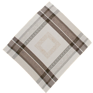 "Bargeme Natural/Black 18""x18"" Jacquard Napkin"