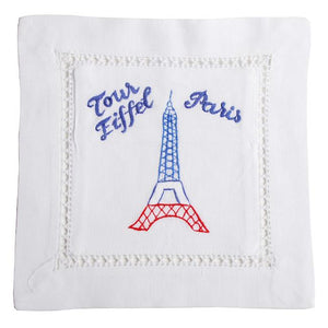Eiffel Tower Hand Embroidered Lavender Sachet made in France